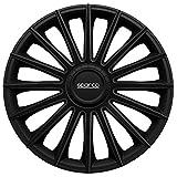 Jeu d'enjoliveurs Sparco Torino 14-inch noir