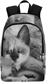 YUMOING Cat Gata Mammal Kitten Pet Cats Eyes Feline Casual Daypack Travel Bag College School Backpack For Mens And Women