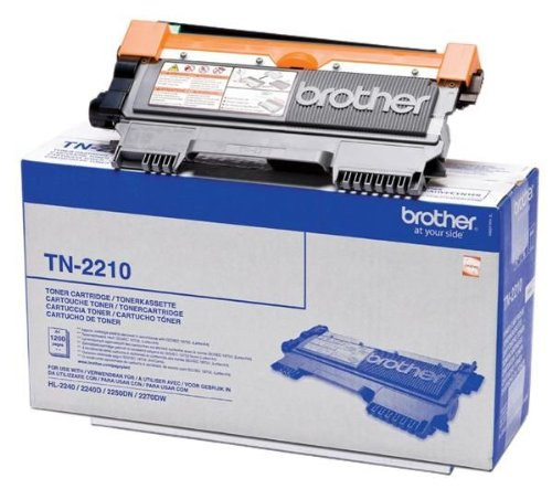 BROTHER Druckertoner TN-2210 - Schwarz + Papier Goodway - 80 g / m2- A4 - 500 Blatt für Brother HL- 2240, 2240D, 2250DN, 2270DW, für Brother MFC 7360N, 7460DN
