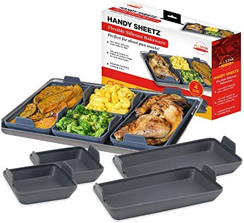 Handy Sheetz Flexible Non Stick Silicone Bakeware for Mix and Match Sheet Pan Meals for Breakfast product image
