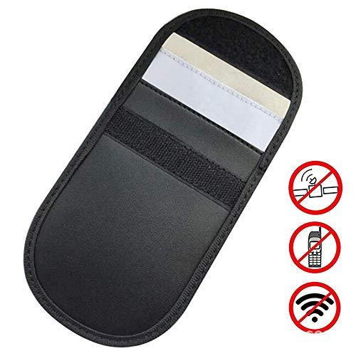 Amaoma Autoschlüssel Signal Blocker Tasche,Auto Signal Keyless Schlüsseletui Keyless Go Schutz Autoschlüssel Autoschlüssel RFID Schutz Keyless Go Schutzhülle Funkschlüssel Abschirmung(Schwarz)