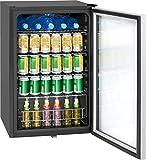 Bomann KSG 7283 Glastürkühlschrank, 115 Liter, LED Innenraumbeleuchtung (separat schaltbar), wechselbarer Türanschlag, Energieeffizient E, schwarz - 4