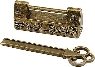 NEL Antieke Vintage Style Mini Hangslot, Kleine Bagage Box Key Lock, Massief zinklegering Klein hangslot met sleutels voor...