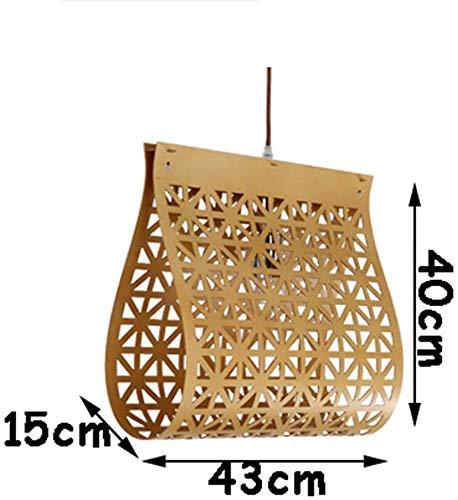 Plafondlamp kroonluchter Chinese landelijke stijl hout kroonluchter E27 Led licht binnenlamp voor trappen&woonkamer