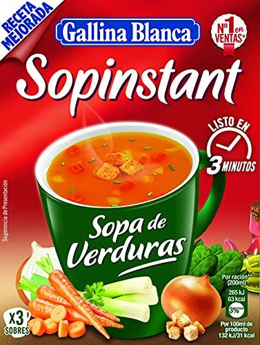 Gallina Blanca Sopinstant Sopa de Verduras con Picatostes, 48g