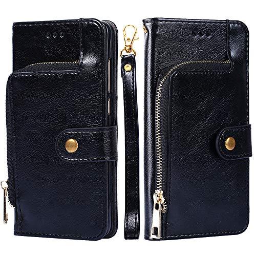 Forhouse SamsungGalaxyM10 PU Hülle,Ledertasche Hülle, Premium PU Leder Schutzhülle Flip Magnet Brieftasche Kartenfach Schlanke stoßfest Schutzhülle für SamsungGalaxyM10 PU (Black)