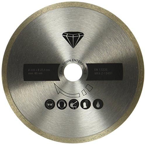 Scheppach 7906700705 Zubehör/Diamanttrennscheibe, passend für den FS3600 Fliesenschneider, schneidet Fliesen, Marmor, Schiefer, Durchmesser 200 x 25,4 mm