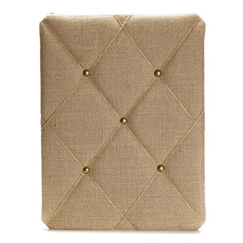 Burlap Covered with Criss-Cross Twine Bulletin Picture & Memo Board...