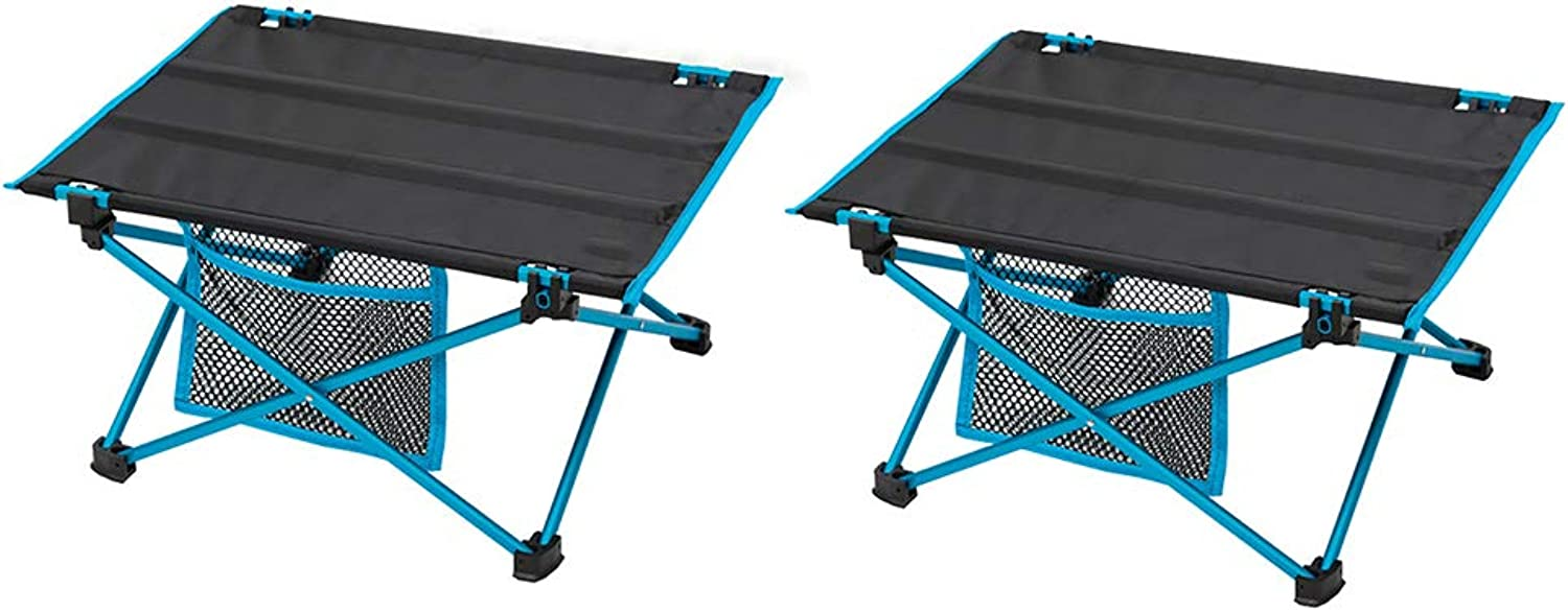 Portable Folding Collapsible Camping Table with Polyester 600D Fabric,Carrying Bag for Indoor and Outdoor Picnic, BBQ, Beach, Hiking, Travel, Fishing,2pcs