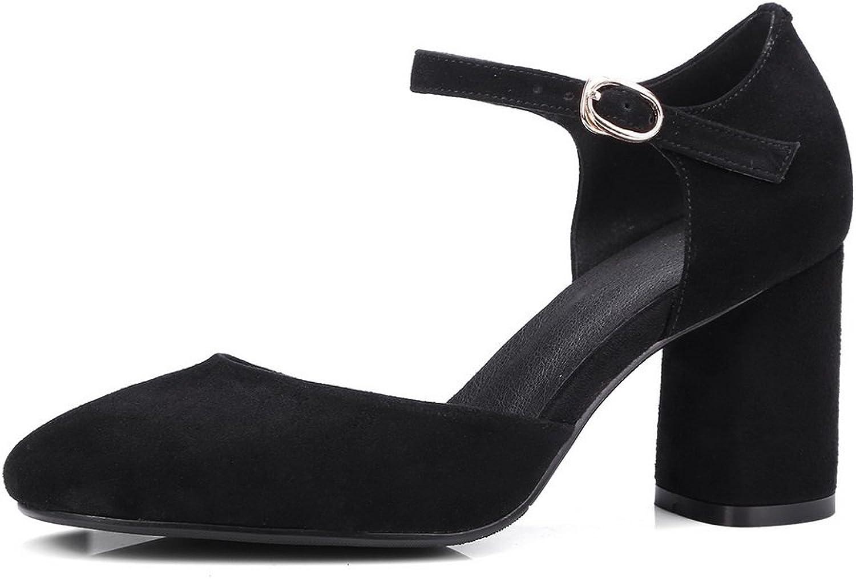 AN Womens Sandals Closed-Toe Nubuck Urethane Sandals DIU00611