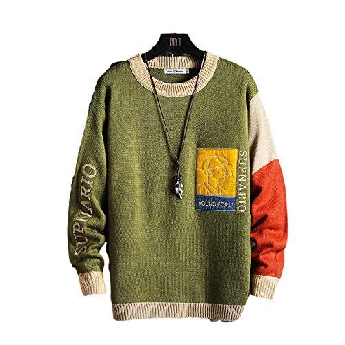 Herren Winter Bottoming Pullover Einzelbuchstaben Zauberfarbe Round Neck Fashion...