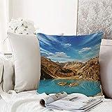 Kissenhülle Super Weich Home Decoration,Landschaft, ein Krater mit Blick auf den Lake Barren Pamir...