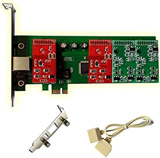 2 FXO+2 FXS Port FXO Card FXS Card with Low Profile Supports Issabel FreePbx PCI-E for IP PBX Business VoIP Phone System