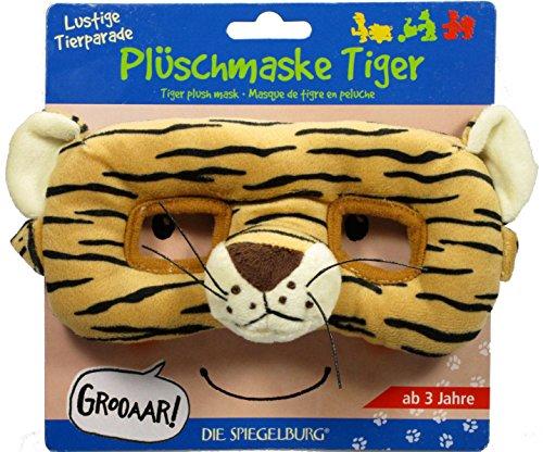 Funny Animal Parade Masque Tigre en Peluche, 22 x 22 x 8 cm, modèle # 12222
