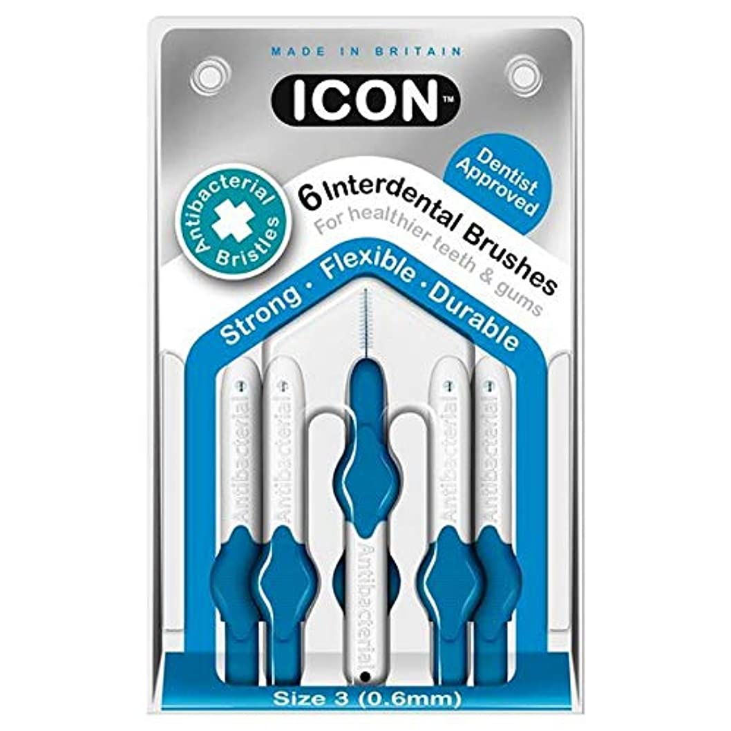 有用間欠動的[Icon ] アイコンの歯間には、パックあたり0.6ミリメートル6ブラシ - Icon Interdental Brushes 0.6mm 6 per pack [並行輸入品]