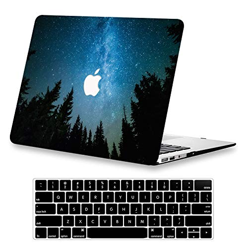 AUSMIX Macbook Pro 13 Inch Case Retina Display 2015-2012 Release A1502/A1425, Pattern Hard Plastice Case Protective Cover with Keyboard Cover for Old Macbook Pro 13 Inch Retina Non CD ROM,Sky tree