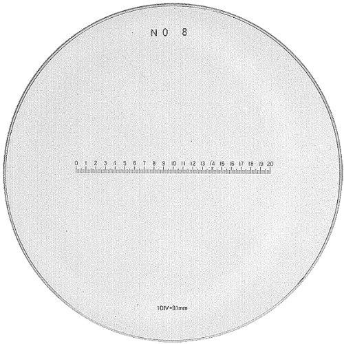 PEAK TSPS08-10 Loupe Precision Millimeter Reticle, 10X Magnification, 35mm Diameter, No 8