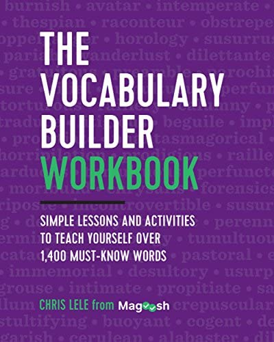 The Vocabulary Builder Workbook Simple Lessons and Activities to Teach Yourself Over 1 400 Must product image