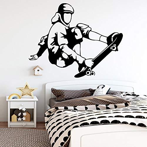Tianpengyuanshuai Skateboard-stickers voor aan de muur, waterdicht, voor kinderkamer, decoratie voor thuis, woonkamer, waterdicht, wanddecoratie