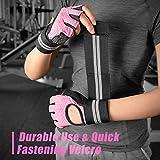 Fitself Fitness Handschuhe Trainingshandschuhe Gewichtheben Handschuhe mit Handgelenkstütze für Kraftsport Crossfit Workout Herren Damen - 6