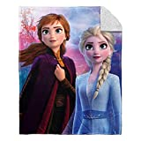 """Plush throw measures 40"""" by 50"""" Made from 100% polyester Soft, plush, warm and comfortable are just a few words to describe this blanket. Fun and colorful graphics featuring Anna and Elsa from the hit movie Frozen 2 Machine Washable"""