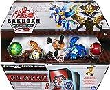 Bakugan Baku-Gear - Juego de 4 Figuras de acción coleccionables Tretorous Ultra con Baku-Gear y Fusionado Pegatrix x Goreene Ultra