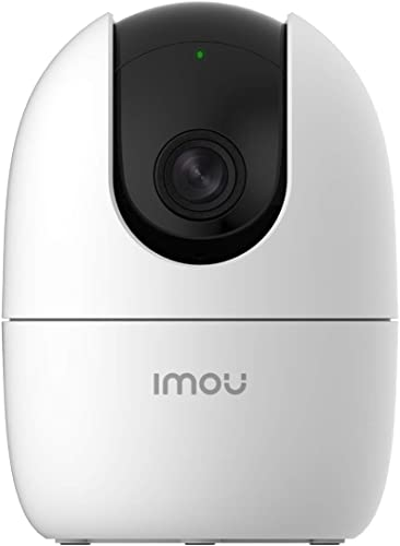 Imou 360 Degree Security Camera White Up to 256GB SD Card Support WiFi Ethernet Connection 1080P Full HD Privacy Mode Alexa Google Assistant Human Detection 2 Way Audio Night Vision