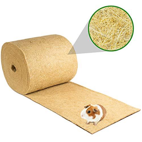 Nagerteppich aus 100% Hanf auf Rolle mit 25m Länge, 40cm Breite, 5mm dick (5,69 Euro / m2) Hanfteppich für alle Arten Kleintiere, Hanfmatte Nagermatte Nager-Teppich Einstreu-Ersatz