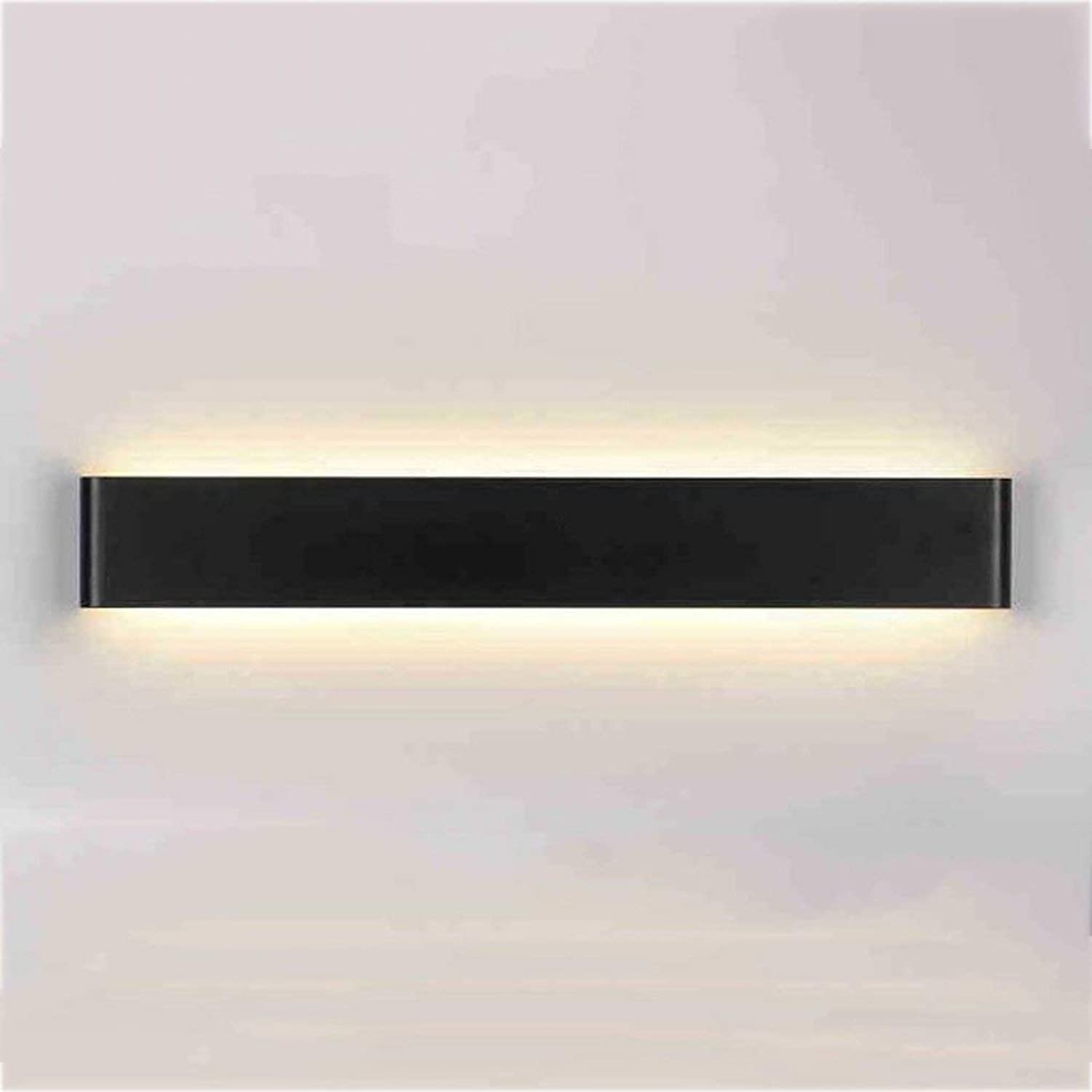 JBP Max Mirror Light Bad Light Bad LED schwarz Aluminium Strip Wand Lampe Spiegelfront Spiegelschrank Licht,WarmWeiß,20W 61Cm