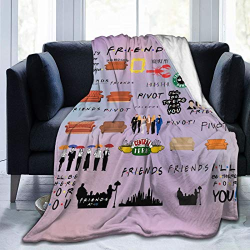 """Friends TV Show Blanket Ultra-Soft Flannel Throw Blanket Fleece Sherpa Blanket for Couch Sofa Bed (50""""X40"""")"""