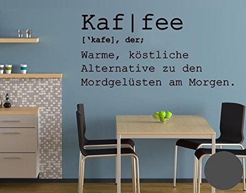 Klebefieber Wandtattoo Kaf I Fee B x H: 100cm x 48cm Farbe: Dunkelgrau