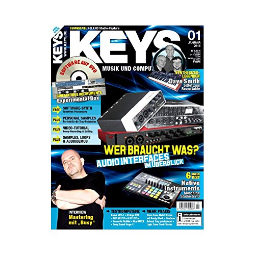 Keys 1 2014 mit DVD - Audio Interfaces - Cinematique Instruments Software auf DVD - Personal Samples - Free Loops - Audiobeispiele