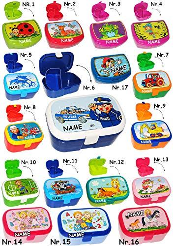 Brotdose / Lunchbox -  Traktor & Bauernhof  - incl. Name - mit herausnehmbaren Fach / extra Einsatz - Brotbüchse Küche Essen - für Mädchen & Jungen - Trakto..