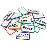 ZHIDIAN Magnetic Dry Erase Labels 2.1' x 1.2', 36 Pcs Magnets for Whiteboard, Blank Name Tags Plates for Classroom, Lockers, Fridge and Behavior Chart, Writable and Reusable Magnets