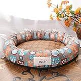 QIEP Cama para perro lavable cesta para mascotas Cool ortopédica perrera suave sofá cama para pequeño tamaño mediano grande perro cachorro cojín (L,G)