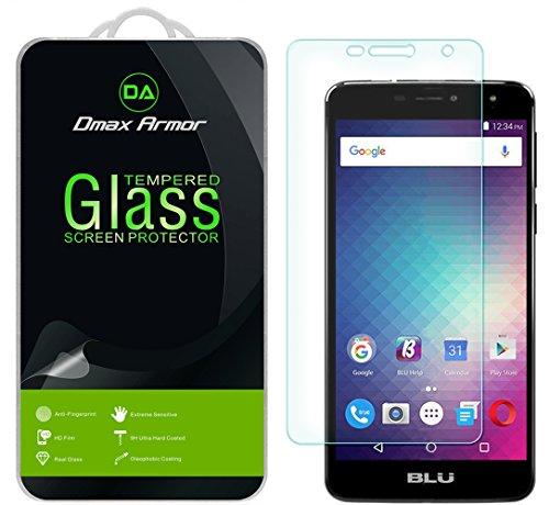 [3-Pack] Dmax Armor for BLU Studio XL 2 [Tempered Glass] Screen Protector