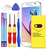 Galaxy S6 Battery, Euhan 2900mAh Li-Polymer Internal Replacement Battery EB-BG920ABE for Samsung Galaxy S6 G920A G920P G920T G920V with Repair Replacement Kit Tools [24 Month Warranty]