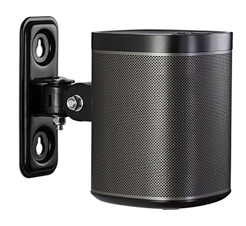Mount-It! SONOS Speaker Wall Mount Bracket for SONOS PLAY:1 Tilt/Swivel Adjustable, Black 4.4 Lbs Capacity (Not Compatible with SONOS ONE)
