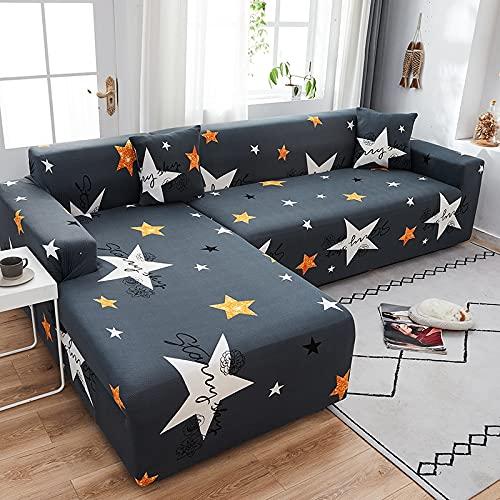 WXQY Modernes elastisches Sofa Chaiselongue Wohnzimmer Wohnzimmer L-förmiger Querschnitt Ecke rutschfeste Sofabezug elastisches Sofagarnitur A1 2-Sitzer