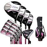 Zhangxia Cougar Golf Club Débutant Ensemble Complet for Femmes (Sac Blanc Rose) (Couleur : Black Pink)