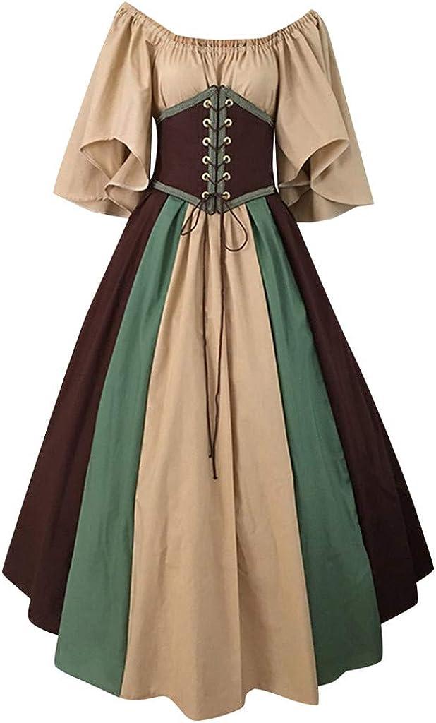 Womens Vintage Dresses Plus Size Renaissance Retro Cosplay Hallo