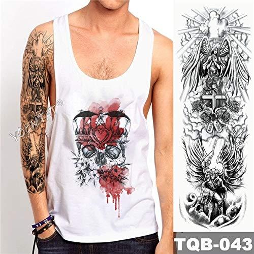 Zhuhuimin Big Arm mouwen Tattoo Rose waterdichte tattoo stickers klok kaart mannen volledige tattoo lichaam vrouwelijk 3st