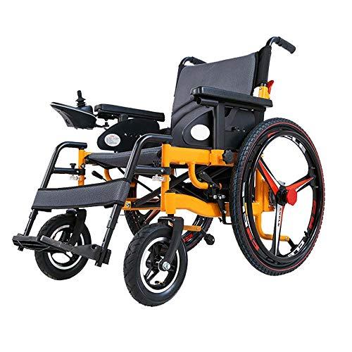 YEAY Super Hochleistungs-Faltbarer elektrischer Rollstuhl-Falt, Polymer-Li-Ion-Batterie, elektrische Leistung oder Verwendung als manueller Rollstuhl, 20-Zoll-Breitsitz,20A