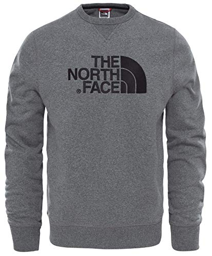 The North Face M Drew Peak Crew Tnfmdgyhtr Sweatshirt, Hombre, tnfmediumgreyheather(std)