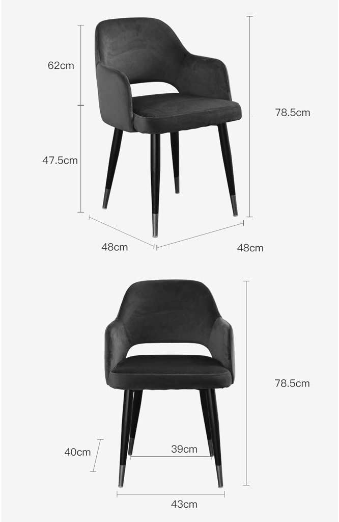 LF Chaise de Salle, Chaise de Bureau Simple, créative Dossier, Chaise Loisirs, Maison Adulte Chaise de Salle Simple (Color : Blue) Blue