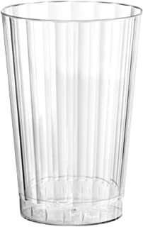 Party Essentials Deluxe/Elegance Hard Plastic Party Cup/Old Fashioned Tumbler/Cocktail Glass, 10 oz, 80 Count, Clear