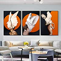 高品質の抽象的なキャンバス絵画壁アートプリントポスターリビングルームの装飾壁の装飾画家の装飾-30x45cmx3フレームなし