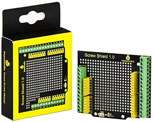 KEYESTUDIO Proto Screw Shield Assembled Bindingpost Proto Shield Terminal Prototype Expansion Board for Arduino Controller U&O R3 Board