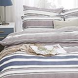 ZHHk Bettbezug Strip Cotton Einfache aktive Druck- und Färbeset Schlafzimmer Bettwäsche...
