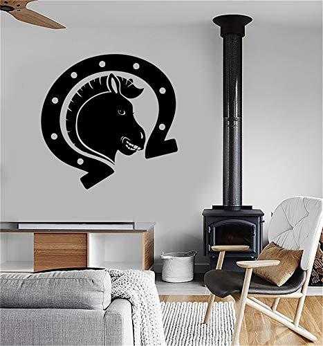stickers muraux hiboux Cheval talisman fer à cheval chance